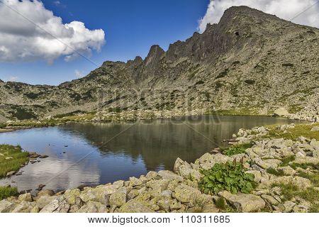 Mountain Lake and Dzhangal peak, Pirin Mountain