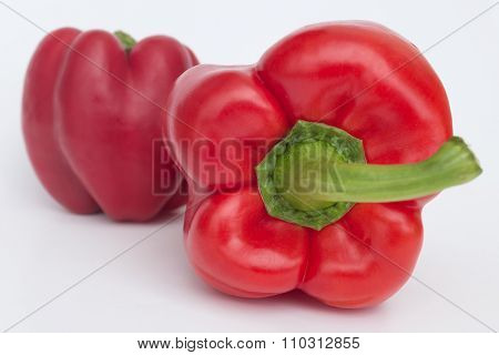 Bell Pepper isolated, red paprika / Sweet Pepper