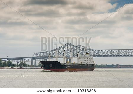 Ocean Liner On The Mississippi