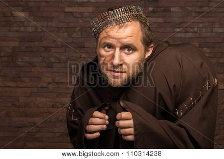 Portrait of the actor in the form of Quasimodo. Theater, stage make-up