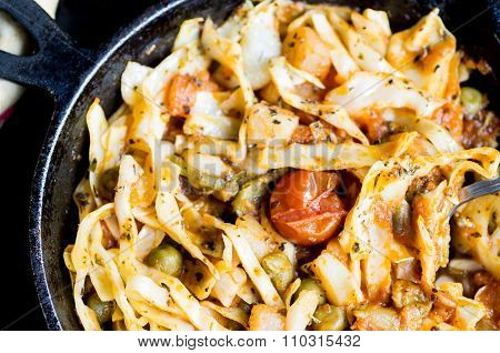 Braised Cabbage With Vegetables