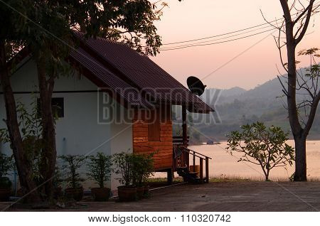 Uthay Thani, Thailand - January, 2015: Beautiful View On The Lake Of  Thap Salao