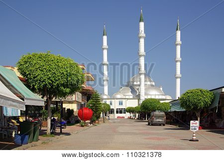 Konakli, Turkey - June, 2014: Mosque In The Central Square