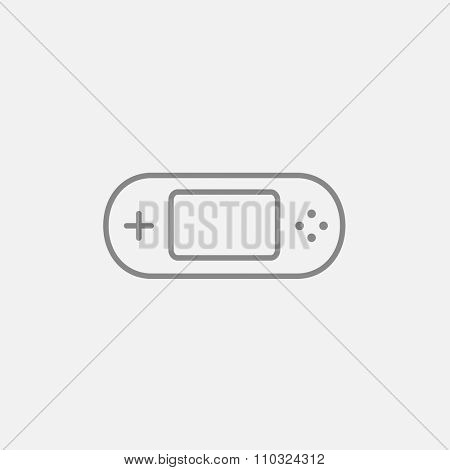 Game console gadget line icon for web, mobile and infographics. Vector dark grey icon isolated on light grey background.