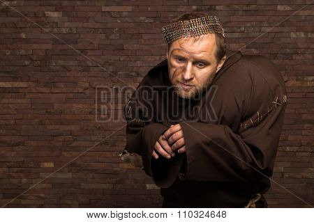 Portrait of the actor in the form of Quasimodo