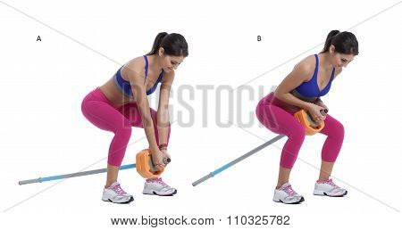 Two-arm Long Barbell Row