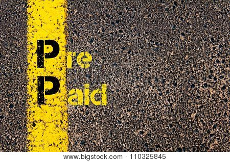Accounting Business Acronym Pp Pre Paid