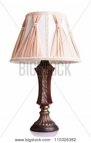 Vintage Styled Lamp Isolated Over White Background