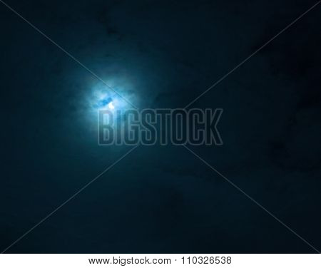 moon light night cloudy sky background blur