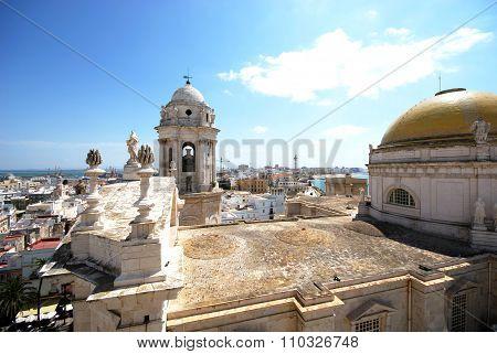 Cadiz Cathedral rooftop.