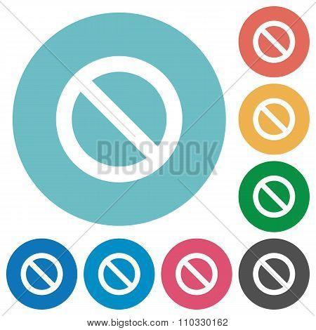 Flat Blocked Icons