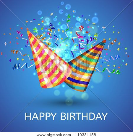 Happy birthday Hats and Confetti Surprise