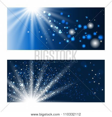Blue Shining Backdrops