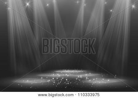 Spotlight vintage background