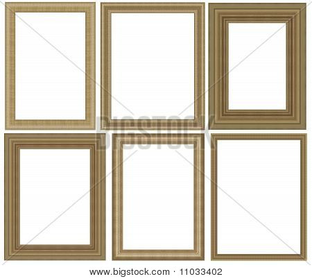 Group photo frame isolated on white