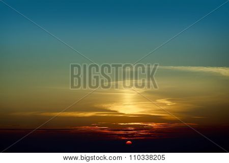 Peaceful Sunset Sky