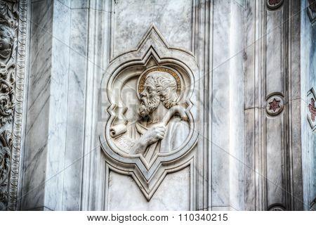 San Francesco Bas Relief In Santa Croce Cathedral