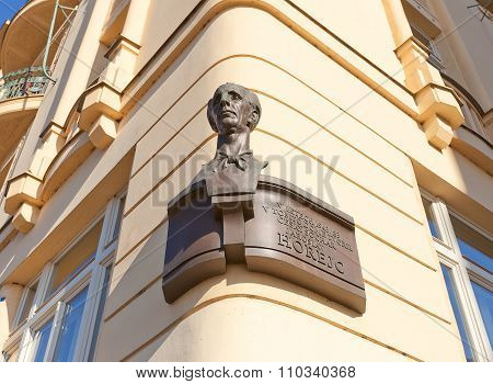 Bust Of Sculptor Jaroslav Horejc In Prague