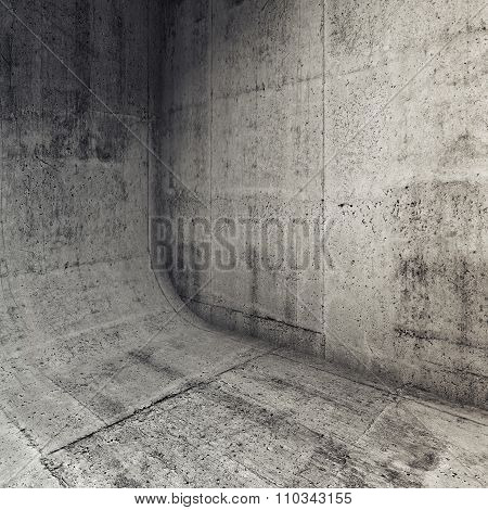Abstract Concrete Interior With Rounded Edge 3D