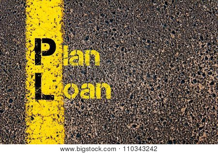 Accounting Business Acronym Pl Plan Loan