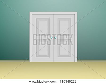double-wing white doors