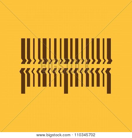 Scan the bar code icon. Barcode scanning symbol. Flat