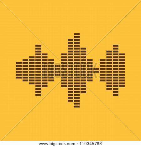 The sound wave and equalizer icon. Audio, radio symbol. Flat
