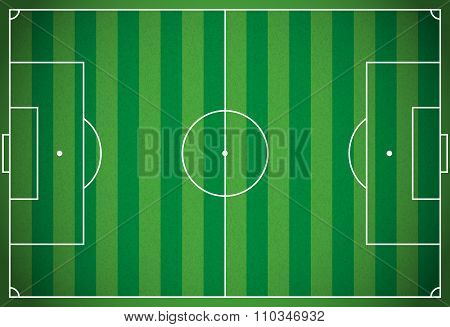 Realistic Football - Soccer Field Illustration