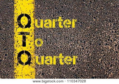 Accounting Business Acronym Qtq Quarter To  Quarter
