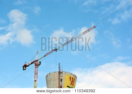 Crane At The Construction Stage