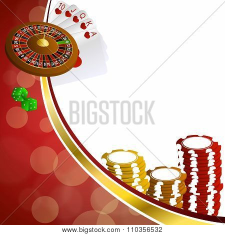 Background abstract red gold casino roulette cards chips craps illustration vector