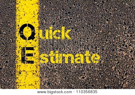 Accounting Business Acronym Qe Quick Estimate
