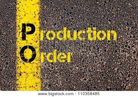 Accounting Business Acronym Po Production Order