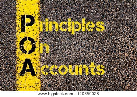Accounting Business Acronym Poa Principles Of Accounts