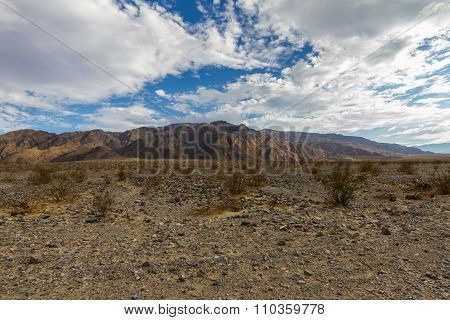 Sandy desert in Death Valley, USA