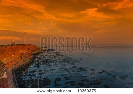 Beautiful Island Named Helgoland At The Northen Sea Of Germany
