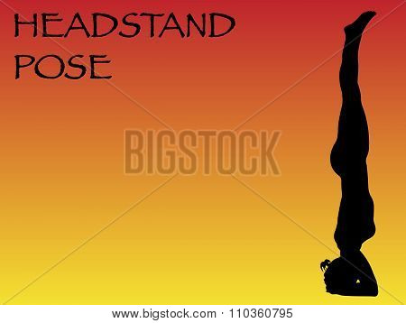 Yoga Woman Straight Headstand Pose