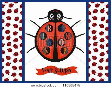 Kids logo with ladybug