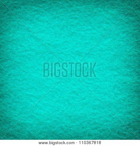Turquoise Felt Texture Background