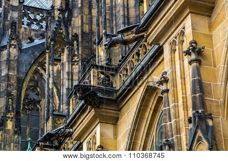 Gargoyle On Metropolitan Cathedral Of Saints Vitus Wenceslaus And Adalbert.