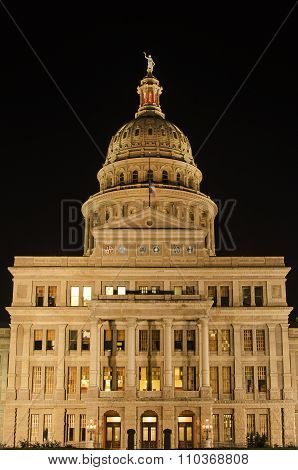 Capitol of Texas in Austin at Night