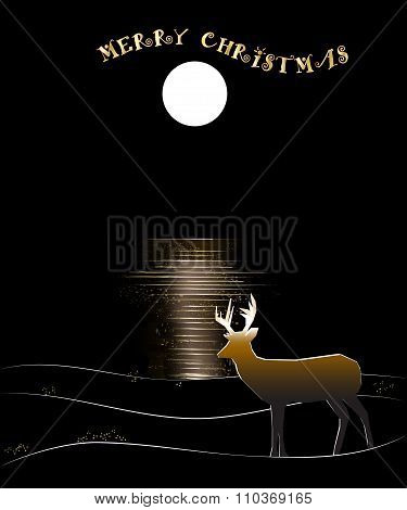 Deer by Moon Reflected Water