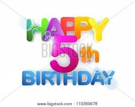 Happy 5Th Birthday Title, Light