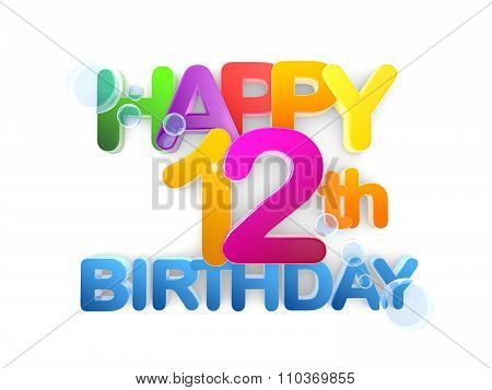 Happy 12Th Birthday Title