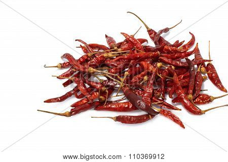 Close Up Of Dried Chilli In Glass Blow, Food Ingredient