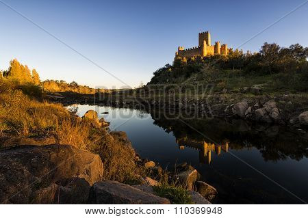 The Almourol Castle in the Tagus River, Portugal