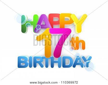 Happy 17Th Birthday Title Light
