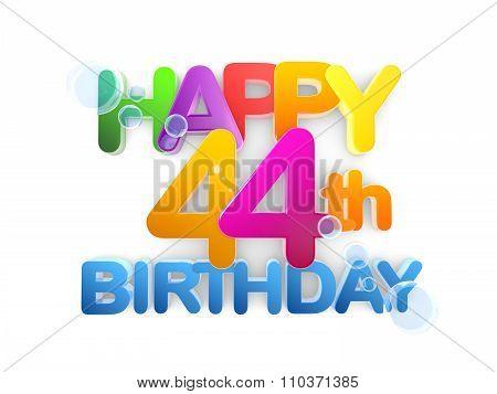 Happy 44Th Title, Birthday Light