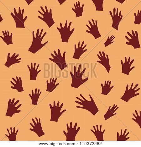 vector handprint pattern