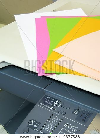 Copier and colored paper